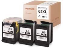 MYTONER Remanufactured Ink Cartridge Replacement for HP 65XL 65 XL Recharge Design for Envy 5055 5052 5058 DeskJet 3755 2655 3720 3722 3723 3752 3758 2652 2624 (Print Head+Cartridges, 3-Black)