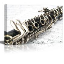 "wall26 - Canvas Prints Wall Art - Clarinet Close-up | Modern Wall Decor/Home Decoration Stretched Gallery Canvas Wrap Giclee Print. Ready to Hang - 12"" x 18"""