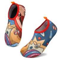 KUBUA Kids Water Shoes Boys Girls Aqua Socks for Toddler Barefoot Swim Beach Pool Quick Dry Lightweight
