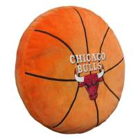 """Officially Licensed NBA """"3D"""" Basketball Shaped Pillow, Orange, 15"""" x 15"""" x 2"""""""