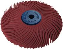 """Dedeco Sunburst - 3"""" TC 3-PLY Radial Bristle Discs - 1/4"""" Arbor - Industrial Thermoplastic Rotary Cleaning and Polishing Tool, Standard 220 Grit (1 Pack)"""