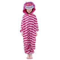 NEWCOSPLAY Halloween Unisex Animal Pyjamas Child Cosplay Costume Cheshire cat