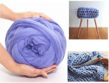 Arm Knitting Yarn Chunky Wool Yarn Bulky Wool Yarn Giant Knit Yarn Extreme Knitting (1.1lbs/0.5kg, Blue Violet)
