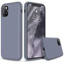 """abitku Silicone Case for iPhone 11 Pro Max, Liquid Silicone Gel Rubber Shockproof Protective Case Cover (Full Body Case with Microfiber Lining) Compatible with iPhone 11 Pro Max 6.5"""" (Lavender Gray)"""