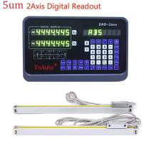 """2 Axis Digital Readout 5um Precision Linear Scale DRO kit 0.0002"""" for Milling Lathe Machine (350mm+400mm),DHL,4-7 Business Days"""