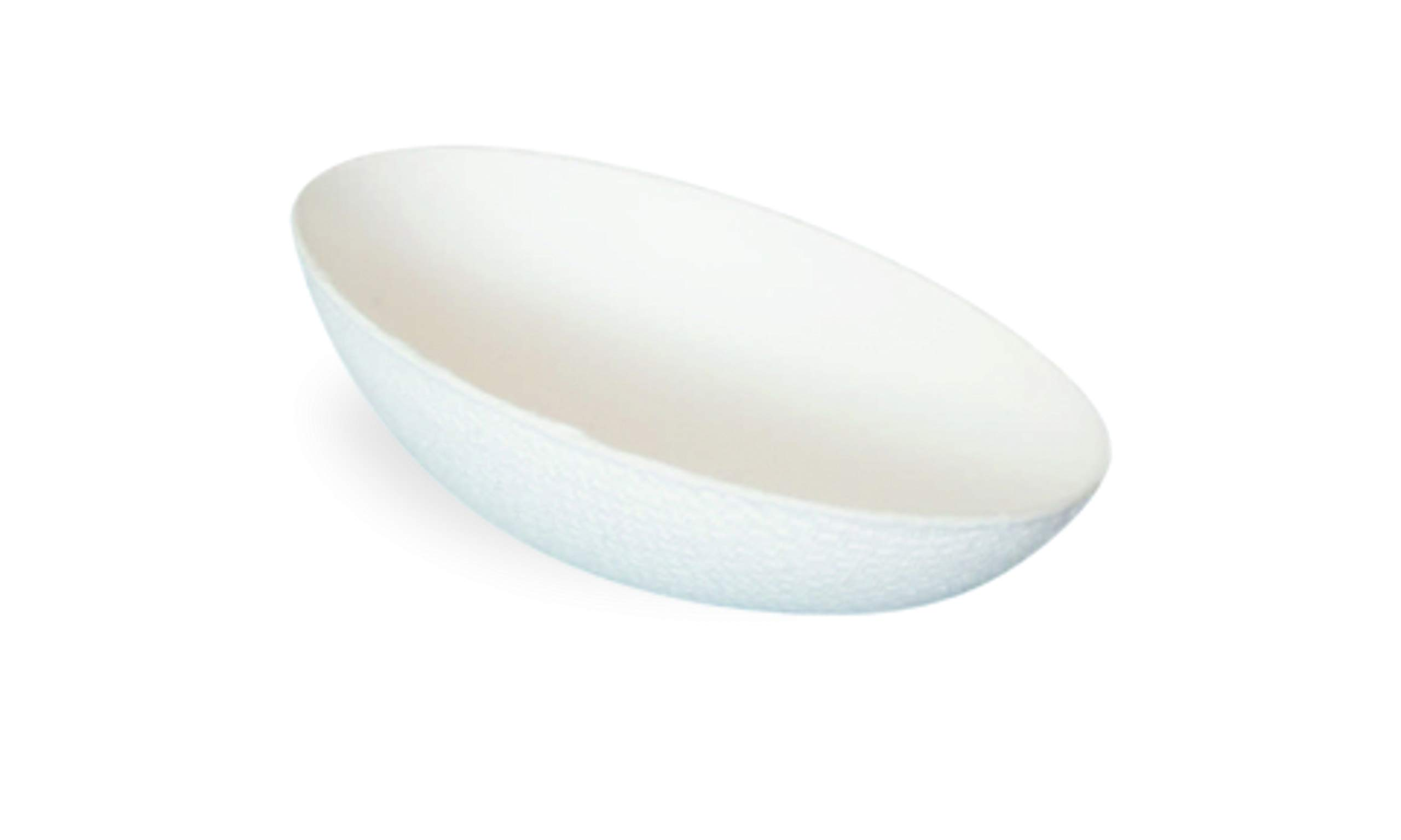"Bio 'n' Chic Egg Shaped Sugarcane Dish (Case of 300), PacknWood - Small Compostable Plates and Bowls for Appetizer or Dessert (3.9"" x 1.2"") 210BCHICEGG"