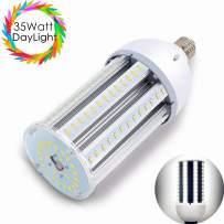 35W LED Corn Light Bulb, Daylight White 6500K, 3600 Lumens, E26/E27 Base Street and Area Lights, 200 Watt Equivalent Replacing Metal Halide/HID/CFL/HPS