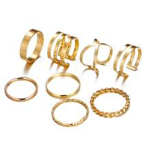 17 MILE 6-12 Pcs Midi Ring Set Simple Knuckle Finger Stackable Rings Set for Women Gifts