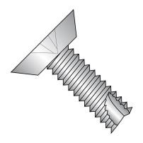 """18-8 Stainless Steel Thread Cutting Screw, Plain Finish, 82 Degree Flat Undercut Head, Phillips Drive, Type 23, #6-32 Thread Size, 1/2"""" Length (Pack of 50)"""