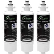 HiWater LT700P Refrigerator Water Filter Replacement for ADQ36006101 LG LT700P, KENMORE 469690, 9690, ADQ36006102 lfx21976st WSL-3 LT700PC LFXC24726D LFXS29766S Pack of 3