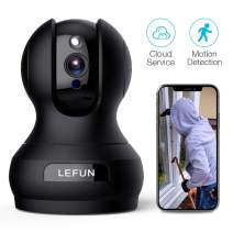Security Camera, Pet Camera Lefun 1080P Wireless Camera with Motion Detection Night Vision Two Way Audio Updated Cloud IP Surveillance Camera Supports 2.4G WiFi Remote View for Home Baby Dog Monitor