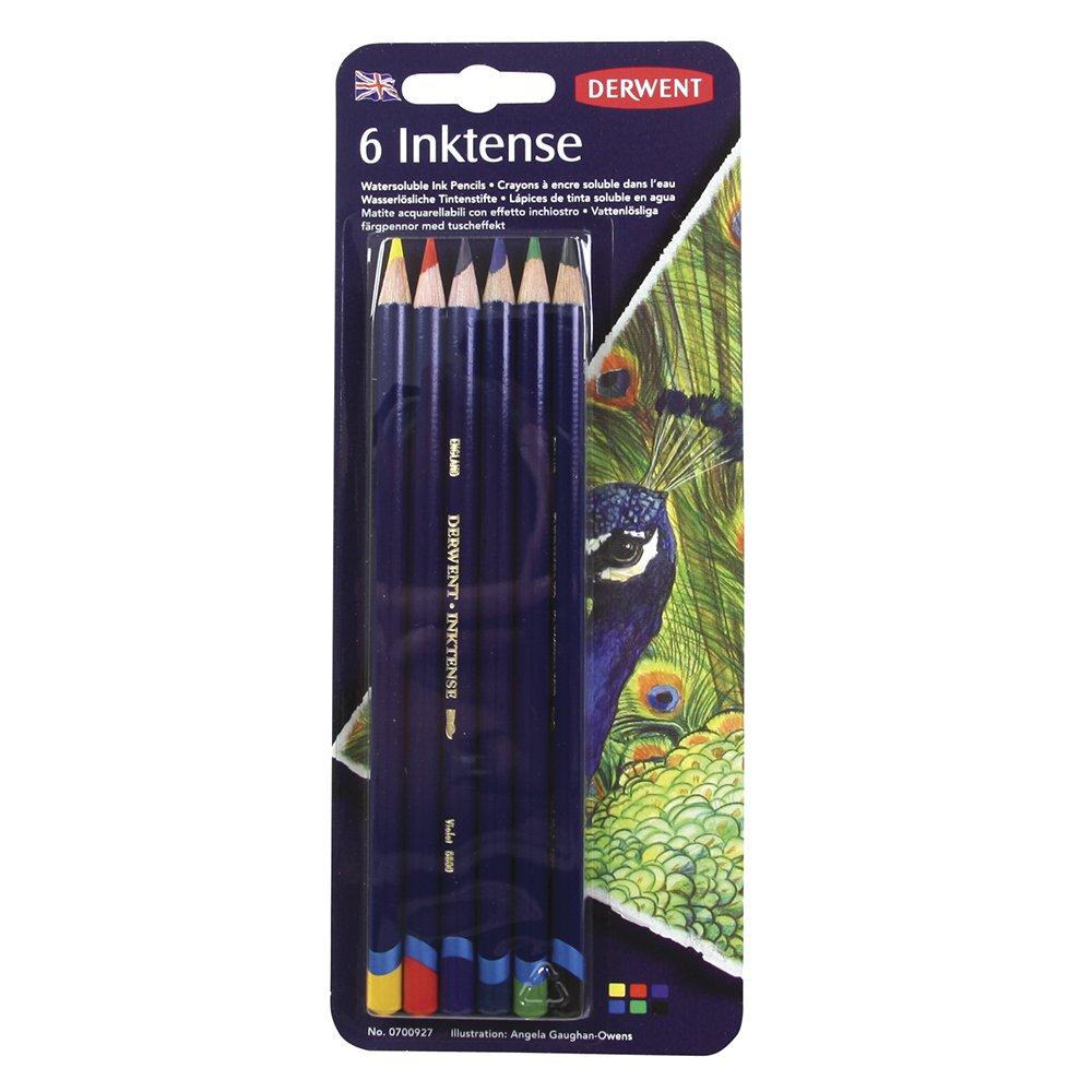 Derwent Colored Pencils, Inktense Ink Pencils, Drawing, Art, Pack, 6 Count (0700927) (Renewed)