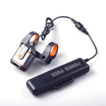Smarkey Headlamp Bicycle Light IP65 Waterproof Bike Front Light with 10000mAh Rechargeable Battery and Charger Heavy Duty Design