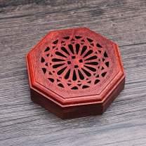 PHILOGOD Incense Coil Burner Red Pear Whole Wood Agarwood Box Embedded Magnetic Incense Holder Car Home Lying Incense Burner (style4)