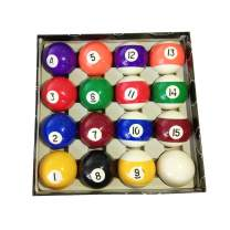 haxTON Standard Size Pool Ball Set Premium Quality Pool Balls Pool Table Accessories Billiard Ball Set Art Number Style Include Cue Ball Indoor Outdoor Game for Children Adult Beginner Professional