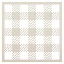"""Buffalo Plaid Checker Stencil by StudioR12   Reusable Mylar Template   Paint Wood Sign   Craft Rustic Farmhouse Home Decor   DIY Picnic Pattern Wall Art Background Gift   Select Size (9"""" x 9"""")"""
