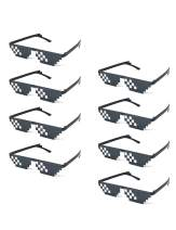 Onnea fashion 8 Pack Thug Life Pixelated Mosaic Party Favors Unisex Fun Sunglasses