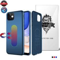 Magnetic Case for iPhone 11, Ultra Thin Magnetic Phone Case for Magnet Car Phone Holder with Invisible Built-in Metal Plate, Soft TPU Shockproof Anti-Scratch Protector Cover for iPhone 11 6.1''-Blue