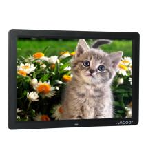 Andoer Digital Picture Frame 15inch, 1280x800 Wide Screen HD LED Digital Album High Resolution Including LED Clock Calendar MP3 MP4 Movie Player with Remote Control