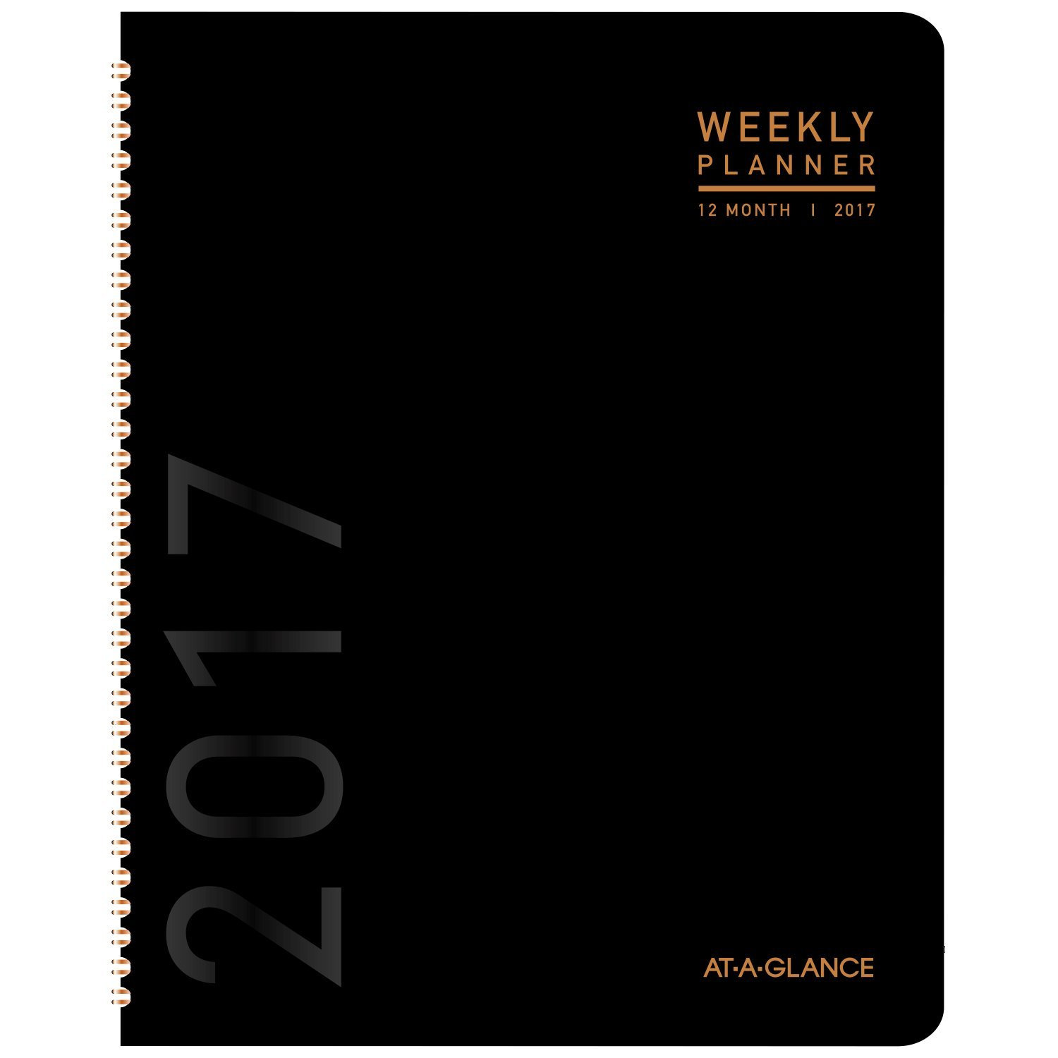 """AT-A-GLANCE Monthly Planner / Appointment Book 2017, 6-7/8 x 8-3/4"""", Contemporary, Black Cover Design (70-120X-05 )"""