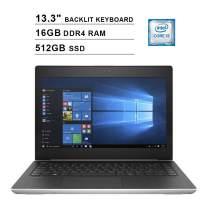 2020 NexiGo Upgraded ProBook 430 G5 13.3 Inch Business Laptop| Intel Core i5-7200U up to 3.1GHz| 16GB DDR4 RAM| 512GB SSD| Intel HD 620| Backlit Keyboard| FP Reader| HDMI| Webcam| Windows 10 Pro