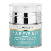 Blue Eye Gel 1 oz:: Combats Dark Circles, Wrinkles, Puffiness. Effective, Skin Toning, Eye Cream by Cosmetasa