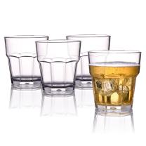 MICHLEY Unbreakable Drinking Glasses 9 Oz, 100% Tritan Plastic Tumbler For Water Juice Beer and Cocktail, BPA-free, Dishwasher safe, Set of 4