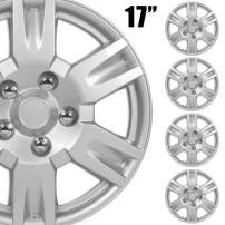 """BDK (4-Pack) Premium 17"""" Wheel Rim Cover Hubcaps OEM Style Replacement Snap On Car Truck SUV Hub Cap - 17 Inch Set"""