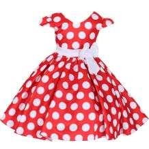 FYMNSI Toddler Girls Polka Dots Princess Birthday Party Pageant Cap Sleeve Bowknot Dress + Headband 1-6T