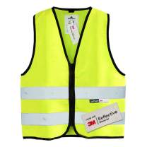 Salzmann 3M Children's High Visibility Safety Vest with Zipper   Made with 3M Reflective Material   Yellow