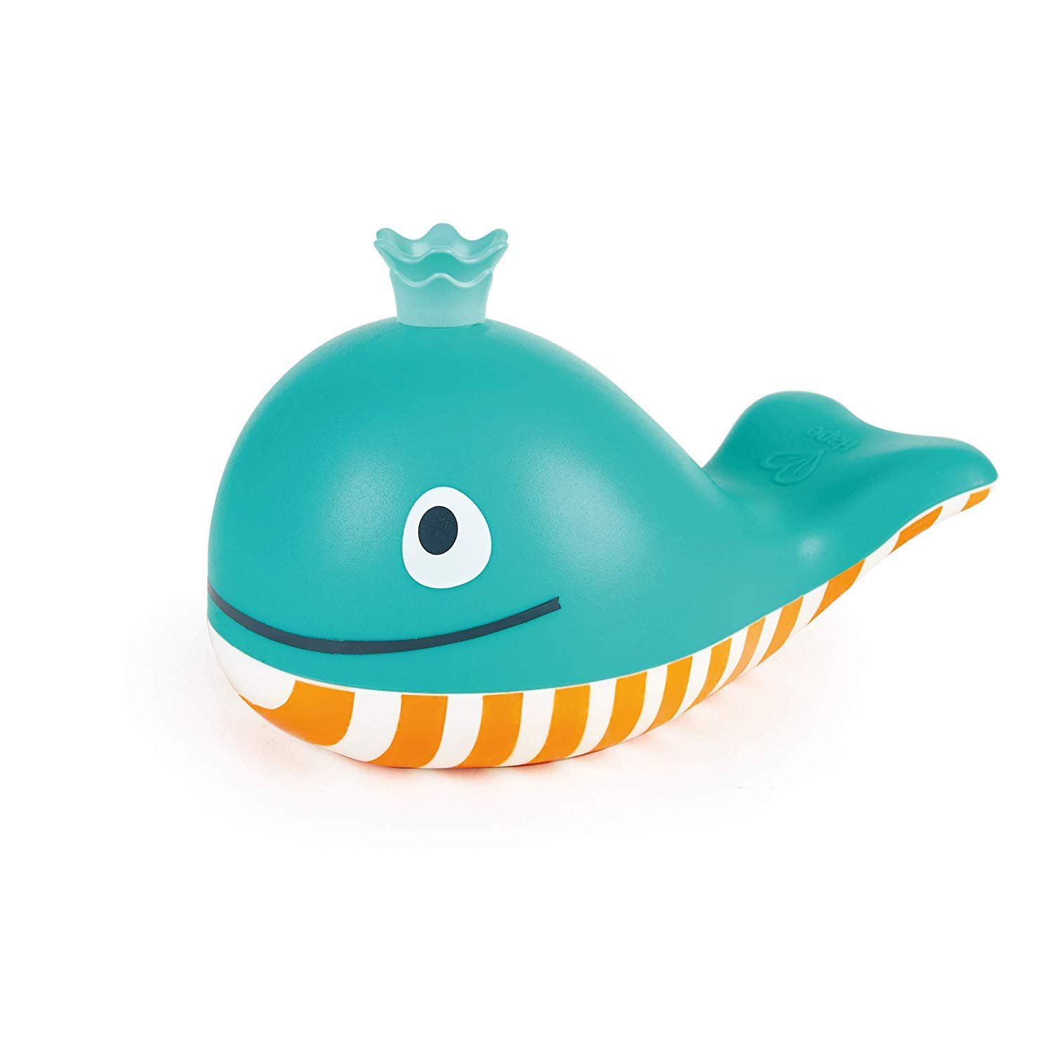 Hape Bubble Blowing Whale Baby Squirt Toy For Bath Time Play Blue