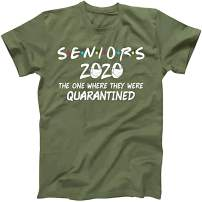 Umeko Womens Seniors 2020 The One Where They were Quarantined T-Shirt Summer Letter Printed Graphic Tees