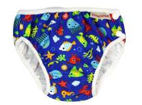 ImseVimse Reusable Baby Swim Diapers for Boys (Blue Sea Life, XL 18-24M, 2T (24-31 lbs))