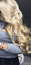 Ugeat 16inch Real Wigs for White Women Real Natural Hair Lace Front Wig Bleach Blonde Color Body Wave Front Lace Wig Human Hair 130% Density