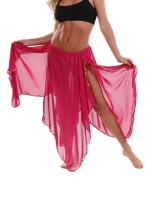 Miss Belly Dance Women's 4 Panel Chiffon Skirt