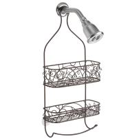 """iDesign Twigz Shower Metal Rust Resistant Hanging Shower Caddy with Hanger, for Shampoo, Conditioner, Razors, Towels, Loofahs and more-9.5"""" x 4"""" x 21.75"""", Bronze"""