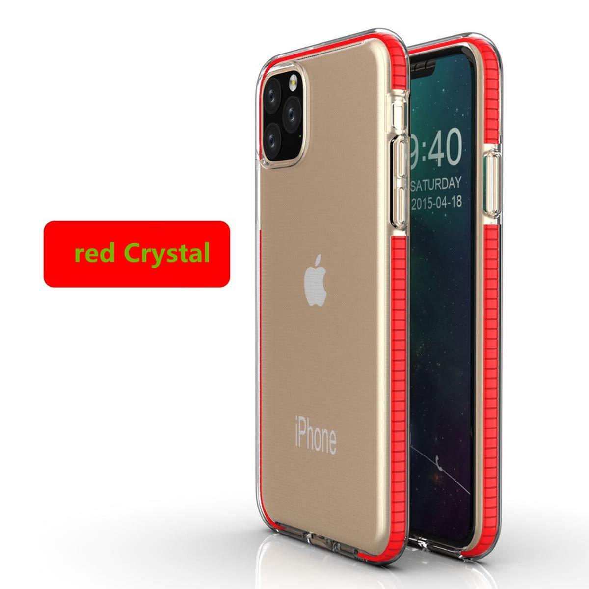 LucaSng Compatible with iPhone 11 Case, Clear iPhone 11 Cases Cover for iPhone 11 Pro 5.8 Inch Crystal Clear Case Shockproof Protection Soft Scratch-Resistant TPU Cover (red)