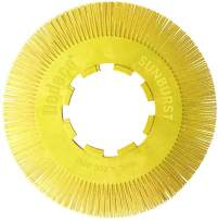 Dedeco Sunburst - 8 Inch TS Radial Bristle Discs - 1 Inch Arbor - Industrial Thermoplastic Rotary Cleaning and Polishing Tool, Coarse 80 Grit (70 Pack)