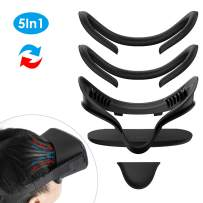 KIWI design VR Facial Interface Bracket & PU Leather Foam Face Cover Pad Replacement & Protective Lens Cover & Anti-Leakage Nose Pad Custom Set for Oculus Quest Accessories, 5-Piece Set