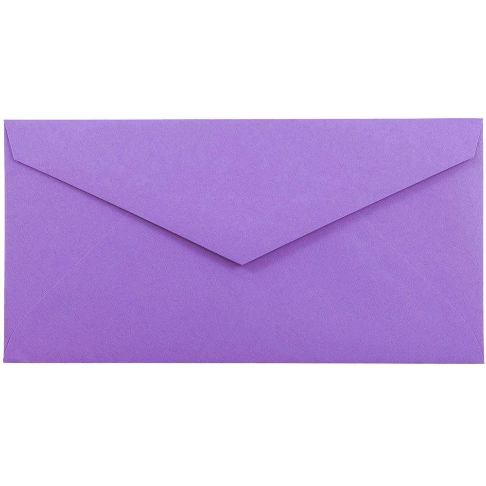 JAM PAPER Monarch Colored Envelopes - 3 7/8 x 7 1/2 - Violet Purple Recycled - 50/Pack