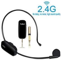 1Mii Long Range Wireless Microphone, Wireless Headset Mic System,160ft Range, 2.4G Wireless Microphone 2 in 1,Fitness Microphone Headset for Speakers, Voice Amplifier, PA Speakers