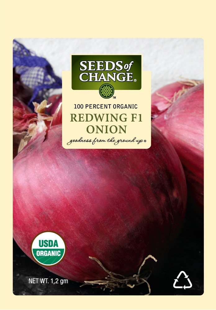 Seeds of Change 05790 Certified Organic Seed, Redwing F1 Onion