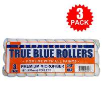 """True Blue 18"""" Professional Paint Roller Covers, Best for All Types of Paint (3, 3/8"""" Nap)"""