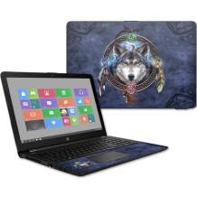 """Mightyskins Skin Compatible with Hp 15t Laptop 15.6"""" (2017) - Wolf Dreamcatcher 