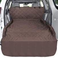 F-color Waterproof Pet Cargo Cover Dog Seat Cover Mat for SUVs Sedans Vans with Bumper Flap Protector, Non-Slip, Large Size Universal Fit