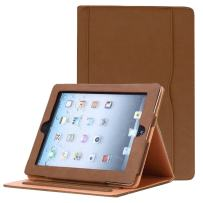 for iPad 9.7 6th/5th Generation 2018/2017, iPad Air/Air 2 Case, JYtrend Multi-Angle Viewing Stand Folio Smart Cover with Pocket for A1893 A1954 A1822 A1823 A1474 A1475 A1476 A1566 A1567 (Brown)