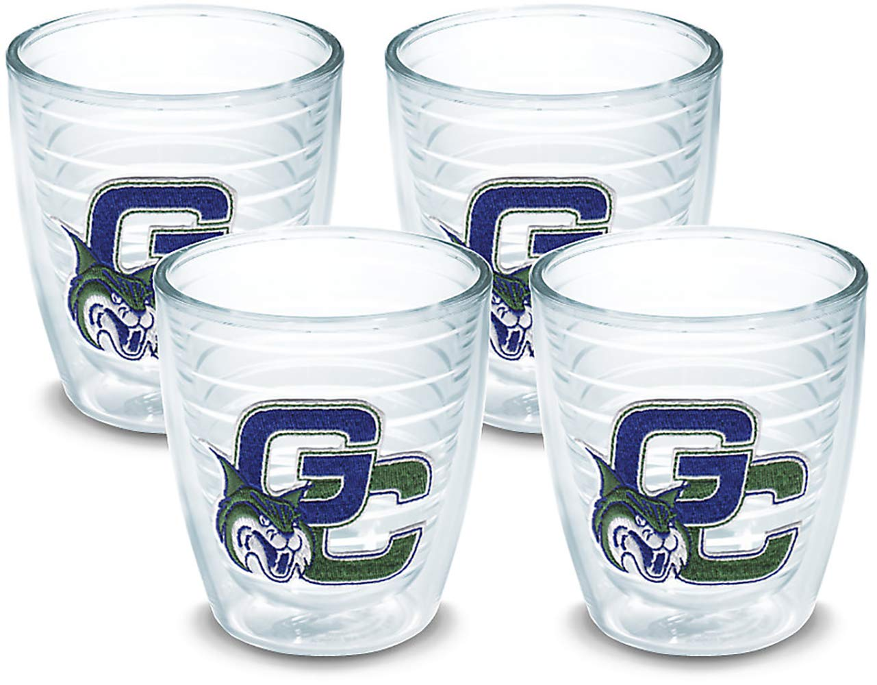 Tervis 1064354 Georgia College Bobcats Logo Tumbler with Emblem 4 Pack 12oz, Clear