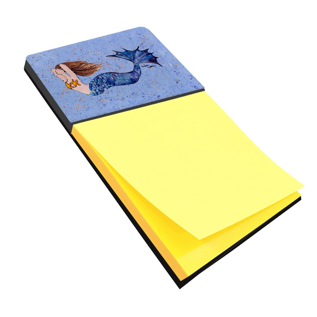 Caroline's Treasures 8337SN Mermaid Refiillable Sticky Note Holder or Postit Note Dispenser, Large, Multicolor