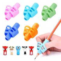 Pencil Grips-Children Pen Writing Aid Grip Set Posture Correction Tool for Kids Preschoolers Children Hollow Ventilation 10 Pcs by FENGWANGLI