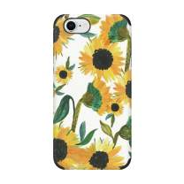 CUSTYPE iPhone 8 Case, iPhone 7 Case, Print Floral Flower Pattern Case Soft TPU Shockproof Back Shell Case for iPhone 7/8 4.7 inch Sunflower